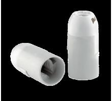Патрон E14 подвесной гладкий белый