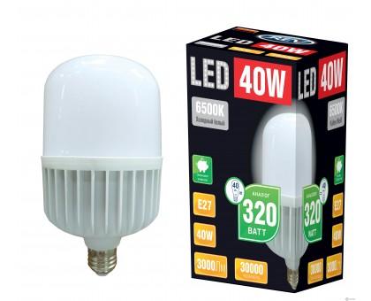 Лампа большой мощности LED T120 E27 40W 6500K