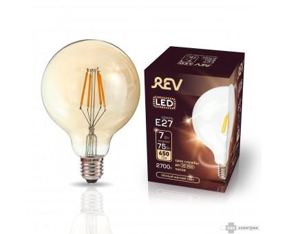 Лампа LED VINTAGE Filament шар G95 E27 7W 2700K