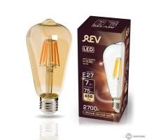 Лампа сд VINTAGE Filament ST64 E27 7W, 2700K